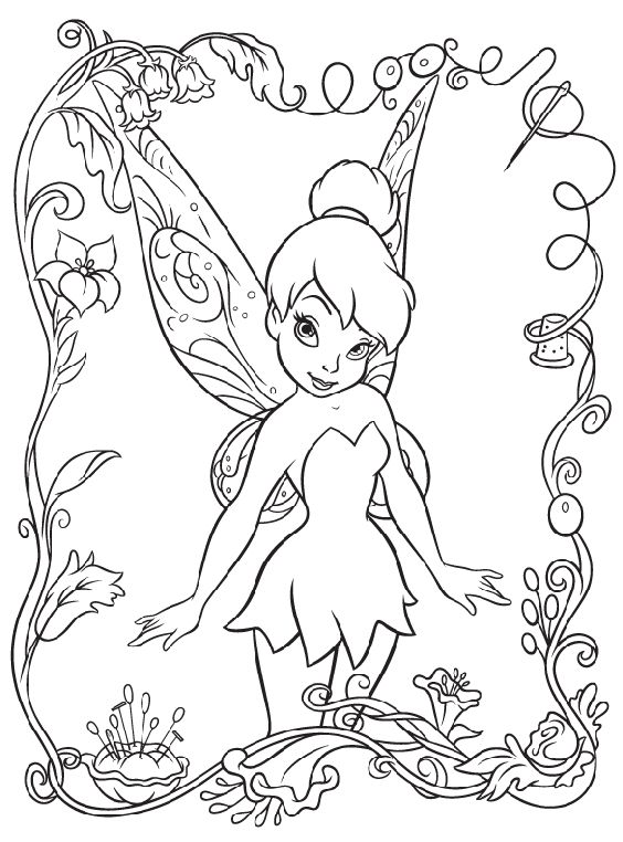 Disney Fairies Tinkerbell coloring page