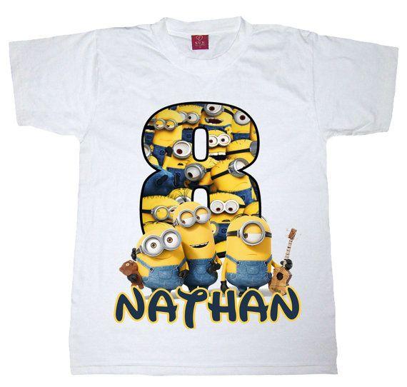 minion birthday shirt by WishesandkissesCo on Etsy