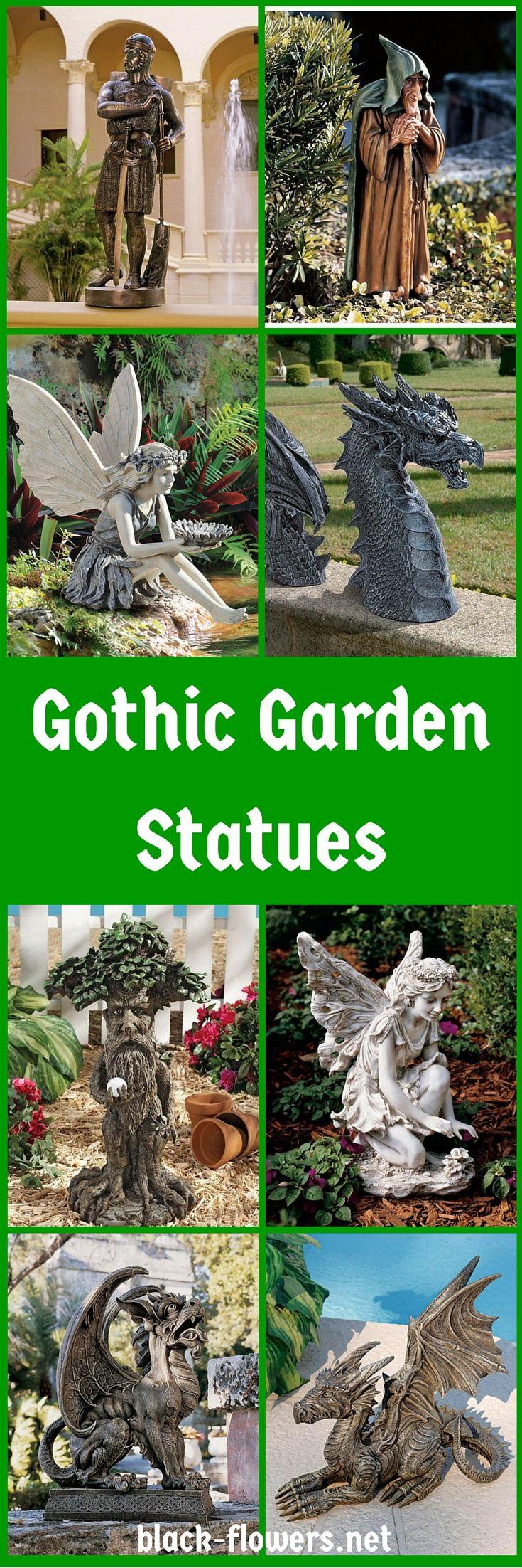 Gothic Garden Statues