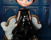 Vestito gotico per Blythe / Azone puro neemo L/M/S / Momoko e le stesse…