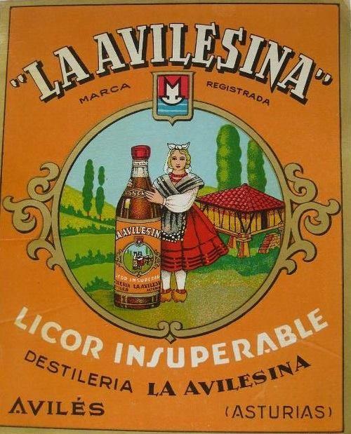 Antiguo anuncio del licor LA AVILESINA