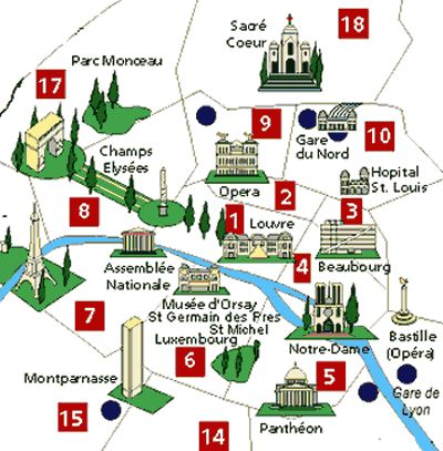 Best Paris Map Ideas On Pinterestno Signup Required Images - Paris map monuments