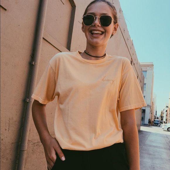 Brandy Melville Accessories - Aleena honey yellow top / shirt