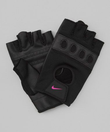 Take a look at this Black & Rave Pink Pro-Flow Training Gloves - Women by Nike on #zulily today!
