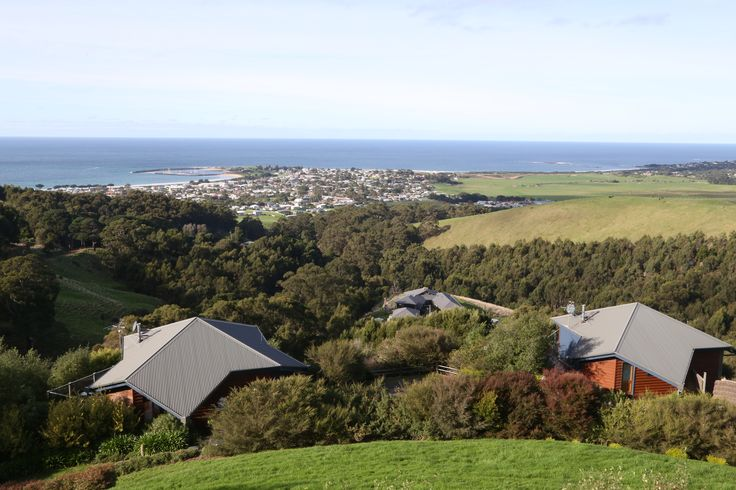 Looking over Apollo Bay from Point of View Villas. Gorgeous luxury accommodation for couples with a fantastic view!