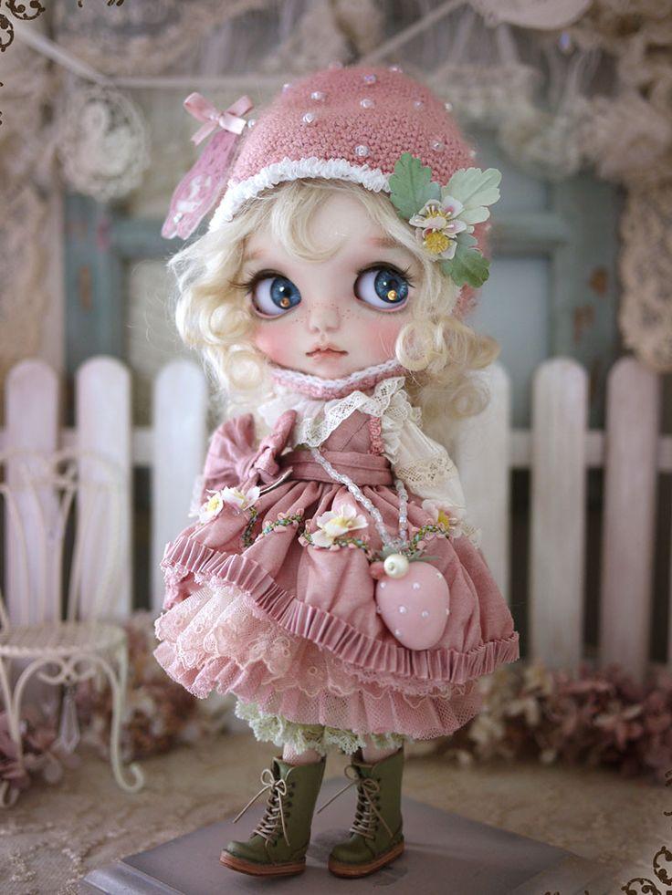 Strawberry girl by Milk Tea Doll Society@Tumblr