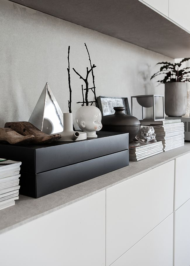 IKEA storage with concrete top . Photo: Daniella Witte