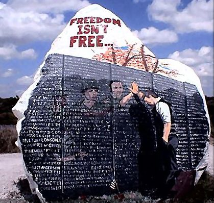 Freedom Rock Veterans Memorial Greenfield Iowa This Is A