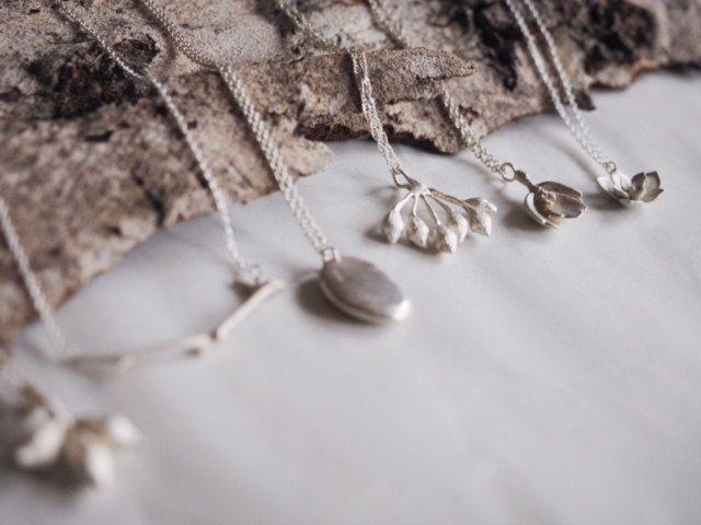 Cast sterling silver gumnuts by WILD Wattle