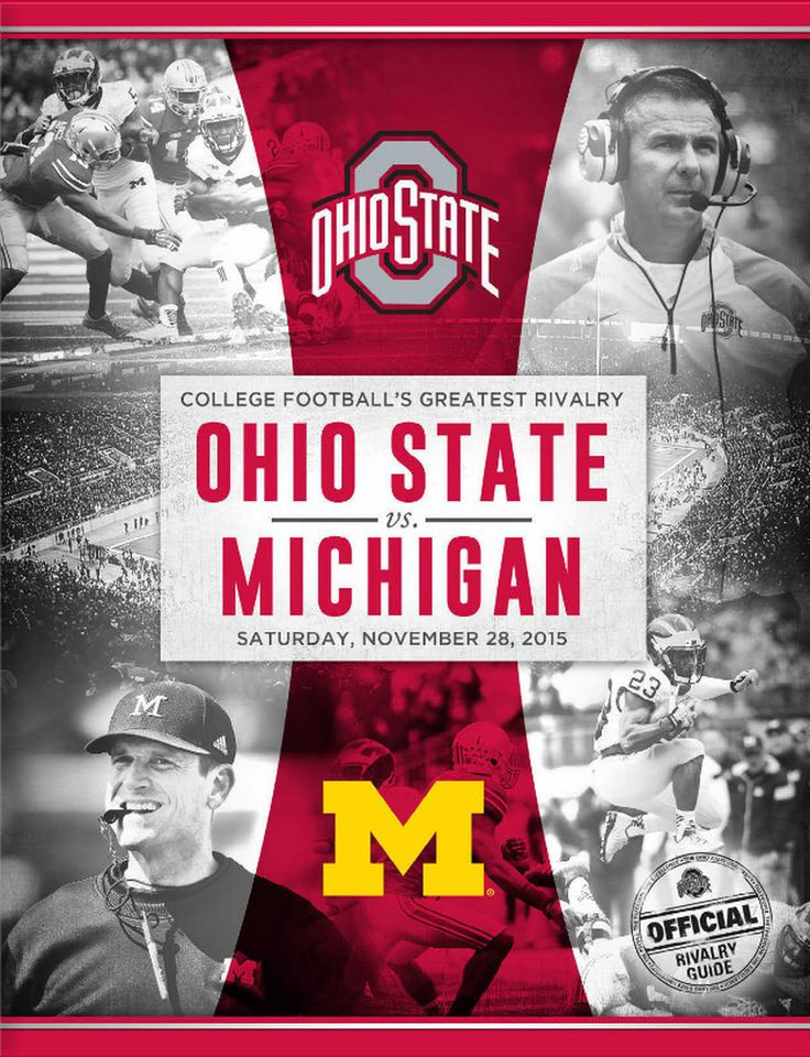 THE GAME 2015 OFFICIAL RIVALRY GUIDE COVER. Ohio state