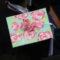Lily Graduation Cap Decorations