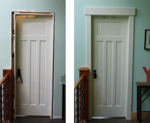 Craftsman style.. Easy door frame!