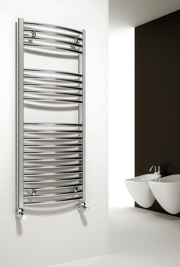 Sale white amp black designer heated towel rails bathroom radiators - The Reina Diva Straight Heated Towel Rail Reinas Collection Of Towel Rails Will Enhance The