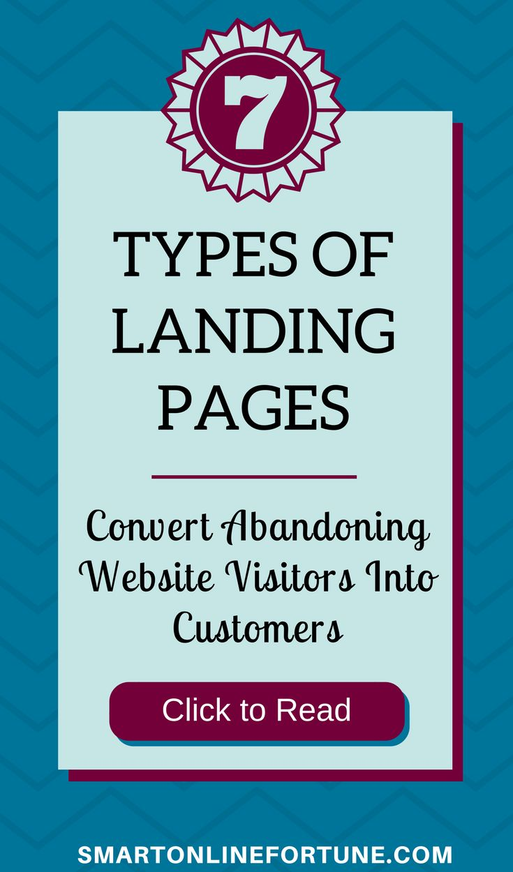 Are you having a difficult time converting abandoning website visitors into customers? If so, you need to implement these 7 types of landing pages on your website. Convert your homepage into a landing page. Grow your email list with opt-in landing pages and webinar landing pages. Get more leads, more sales, and more clients with sales landing pages, tripwire landing pages, thank you landing pages, and live webinar landing pages. #landingpages #listbuilding