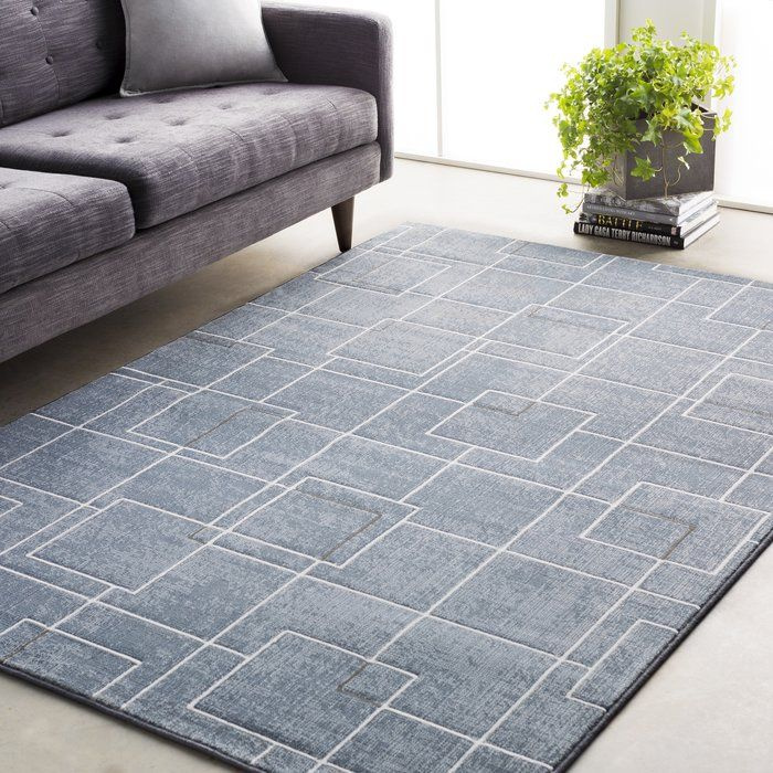Larrick Geometric Blue Gray Area Rug Area Rugs Rugs Area Rugs For Sale