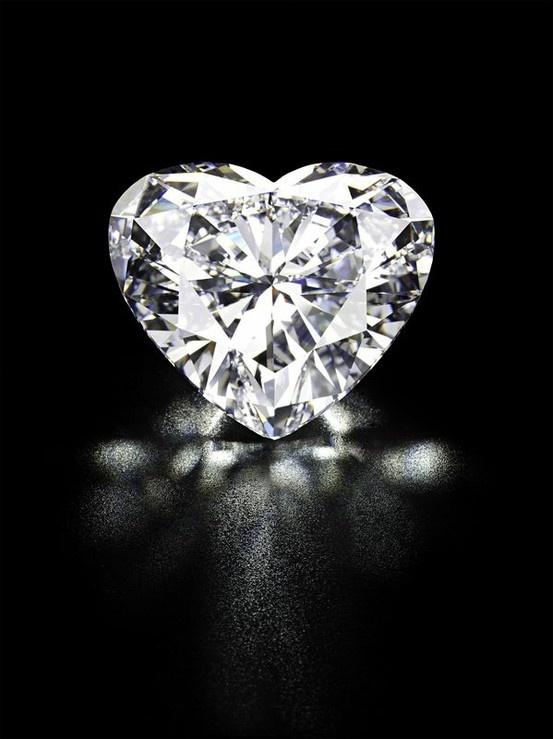 En forma de corazón del diamante