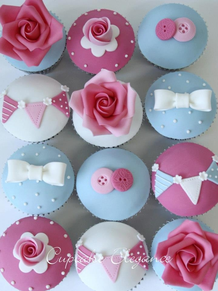 Cath Kidson fabric inspired Cupcakes by Cupcake Elegance, Glasshouse Mountains, Queensland, Australia.
