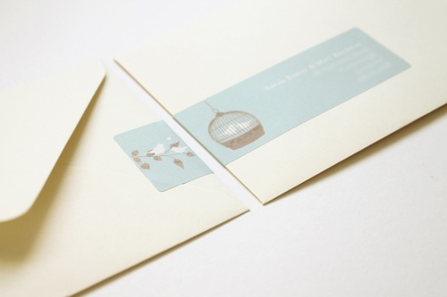 Birdcage #wedding #invitations from Studio Seed