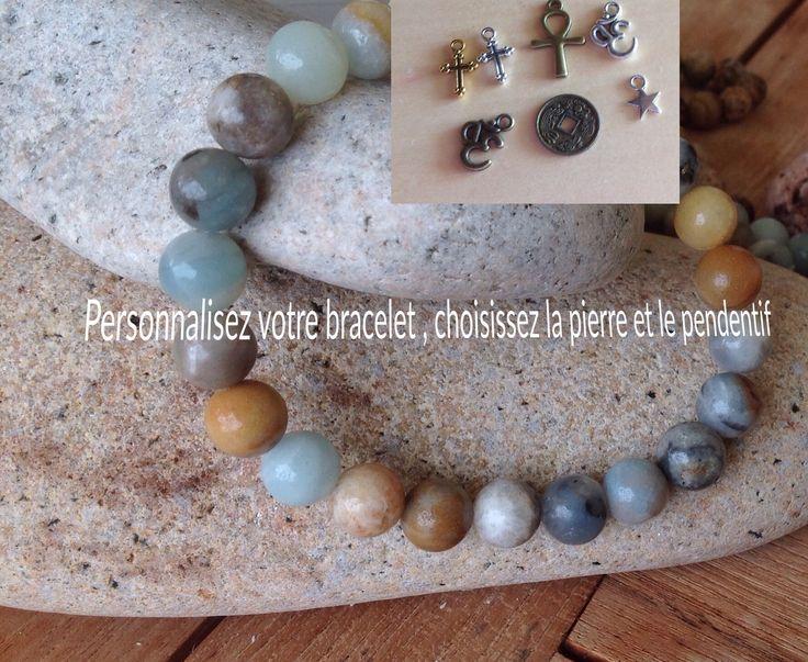 Bracelet bouddhiste en perles au choix c : Bracelet par made-with-love-in-aiacciu