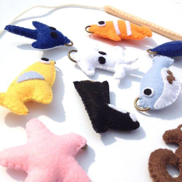 フェルト お魚釣りセット2 知育グッズ 手作り おもちゃ ゲーム