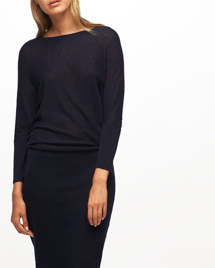 Made from wool and viscose with a touch of lycra to hold its shape, this dress…