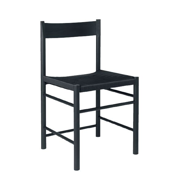 ODE AAN SCANDINAVISCHE TRADITIES - in Scandinavian Living #6 een selectie van 10 meubels met status 'klassiek': nieuwe en oude. Ze hebben één ding gemeen: gemaakt om generaties lang mee te gaan. Moderne originelen!  Op deze foto: moderne Shakerstoel, F Chair, ontworpen door Rasmus B. Fex in 2017. Brdr. Krüger.