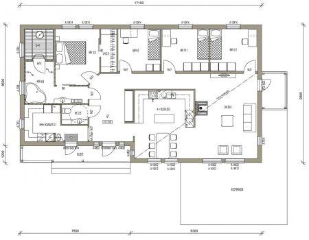 Talomallit | Luonnospankki | 1-kerros | L-13139 / 142 m², paljon hyviä ideoita, vähän iso tosin