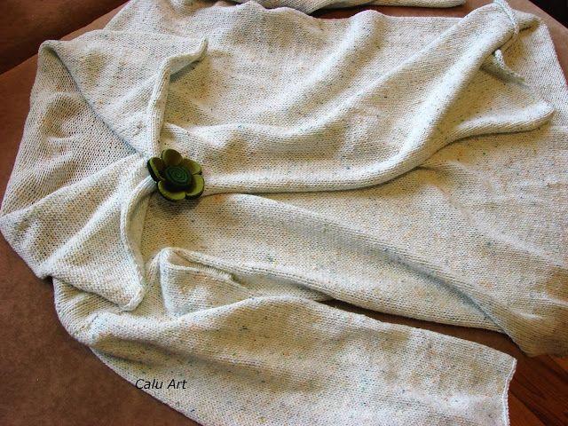 Calu Art: Kardigan z kropeczkami