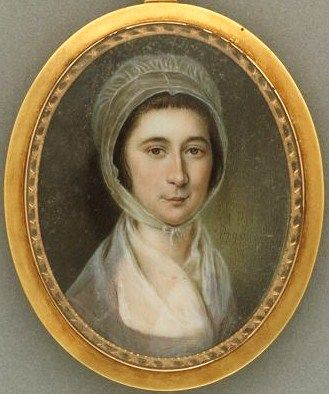 """""""Mary Polly Lawton Bringhurst"""" by James Peale (1790)"""