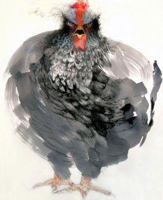 Mary Sprague2006, 03 Animal, Birds Art, Animal Painting, Animal Art, Art Animal, Mary Sprague, Chicken Art, Seeth Chicken
