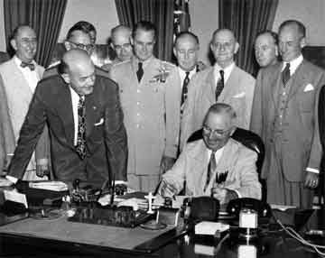 As the British give up control of Greece, the Truman Doctrine goes into effect and the Cold War begins.