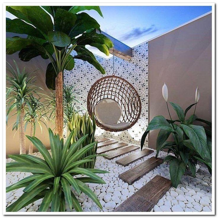 24 beautiful side yard and backyard gravel garden design ideas 10