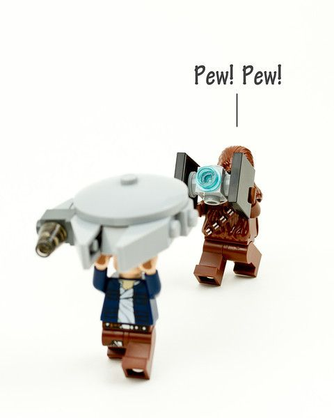Pew! Pew! Han and Chewie! #starwars