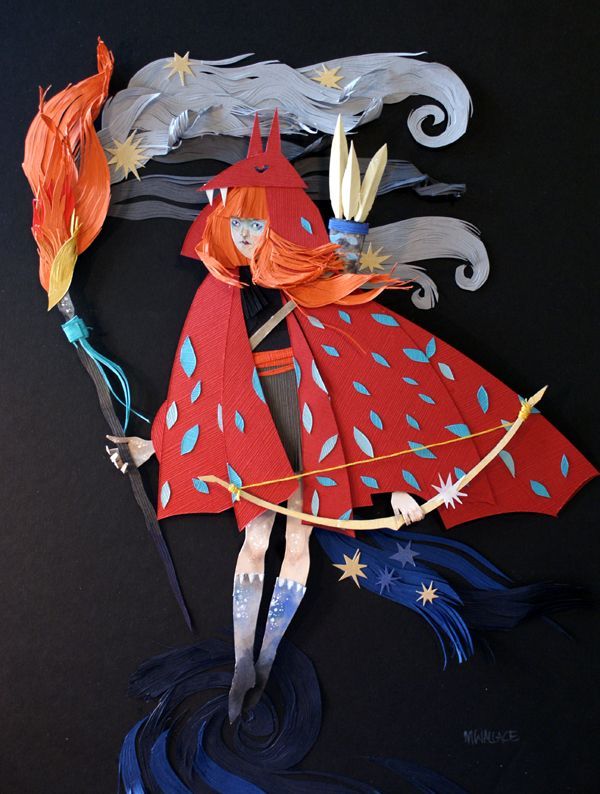 Paper art by Morgana Wallace on Tumblr  
