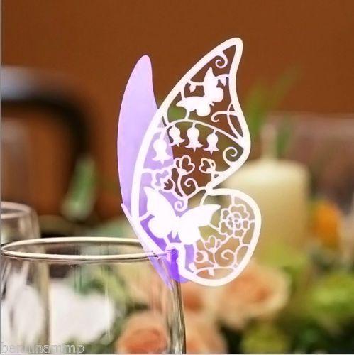 156 farfalle segnaposto lilla bicchiere bomboniera matrimonio segnatavolo bubble | eBay