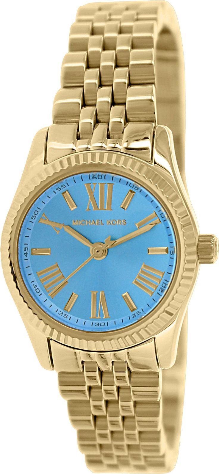 Amazon.com: Michael Kors Lexington Ocean Blue Dial Gold-tone Ladies Watch MK3271: Michael Kors: Watches