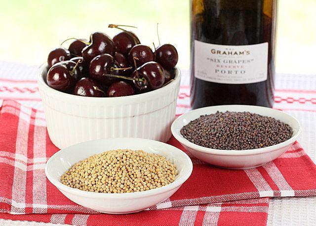 Port wine and bing cherry mustard