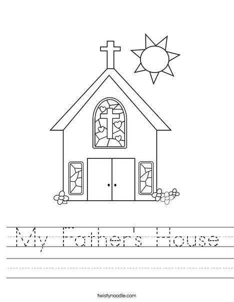 My Father's House Worksheet - Twisty Noodle | Sunday ...
