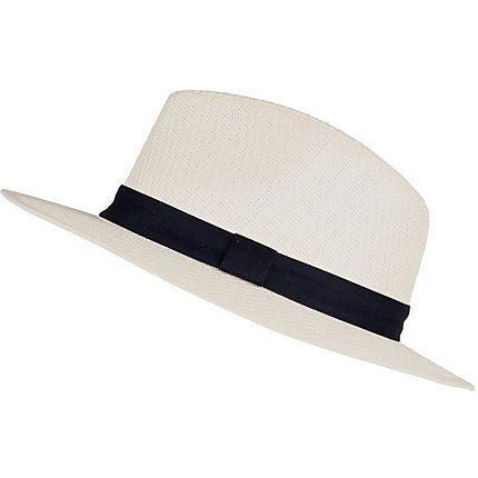 White straw panama hat £16.00