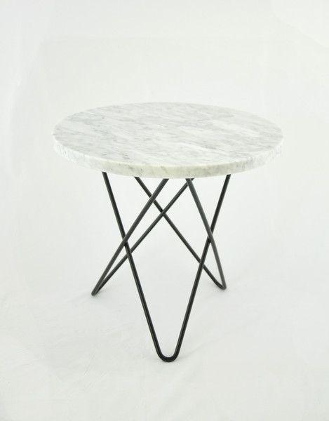 Marmurowy stolik MINI O- Biały | Designzoo