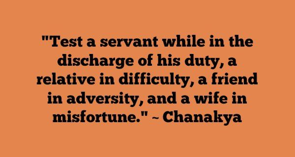 These notable & inspirational Chanakya quotes on love, friendship, wife…