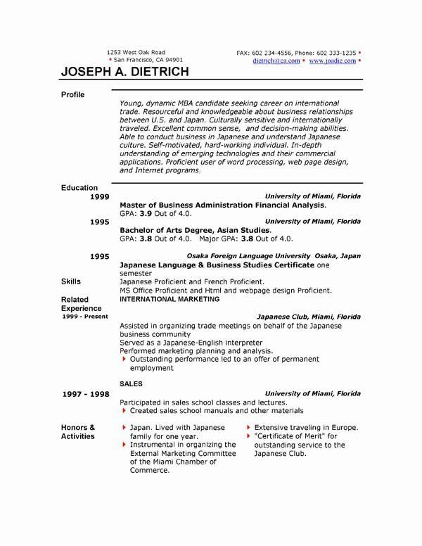 Free Resume Templates Microsoft Office Beautiful Free Resume