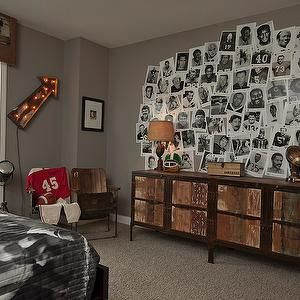Football Theme Kids Room, Eclectic, boy's room, BIA Parade of Homes