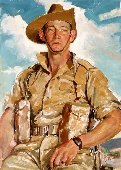 Artist's Footsteps - Portrait of Corporal Jim Gordon V.C. 1941 by William Dargie