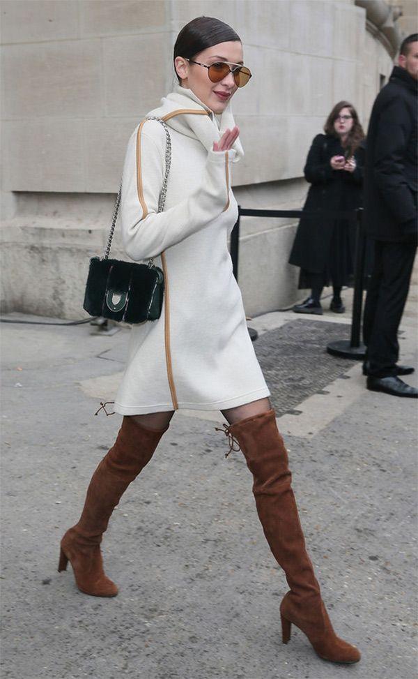 Street style look Bella Hadid