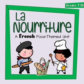"""This best selling unit was designed for a middle school French as a Second Language class. It is a food-themed unit, with listening, speaking, reading, and writing activities. There is also a large grammar component - focusing on partitive articles (du, de la, des, de l'), the pronouns """"y"""" and """"en,"""" and the irregular """"prendre"""" verb group."""