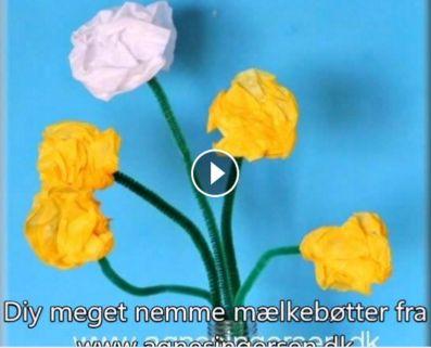 Denne diy video er lavet over de meget nemme mælkebøtter fra bloggen :) Hvis du vil have en mere deltaljeret forklaring så finder du den her:  http://agnesingersen.dk/blog/nemmemaelkeboetter/ #diy #kidscraft #childrencraft #craftsforkid #AgnesIngersen #mælkebøtter  #Dandelion