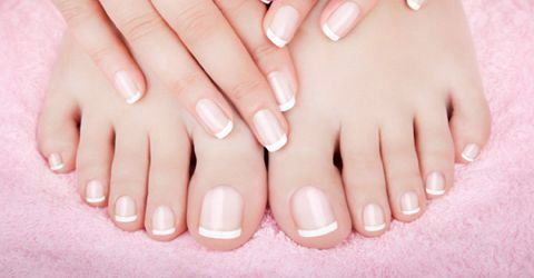 Bridal manicure & pedicure #wedding #manipedi