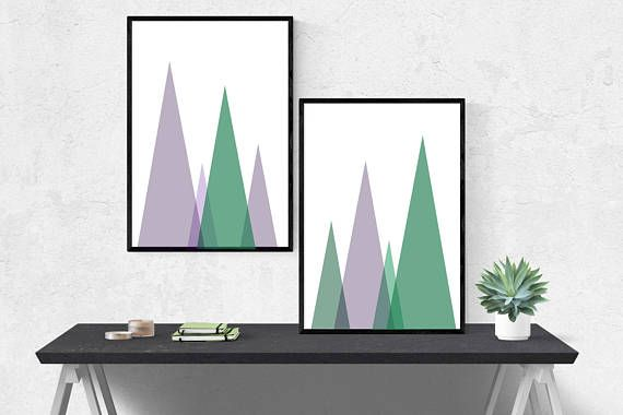 Minimalist Abstract Wall Art for the home! Available for instant digital download on Etsy!
