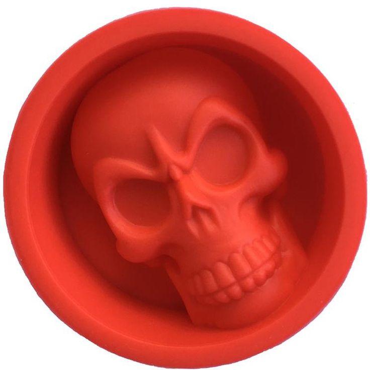 Silicone Skull Ice and Muffin Cake Mold //Price: $8.99 & FREE Shipping //     #skull #skullinspiration #skullobsession #skulls